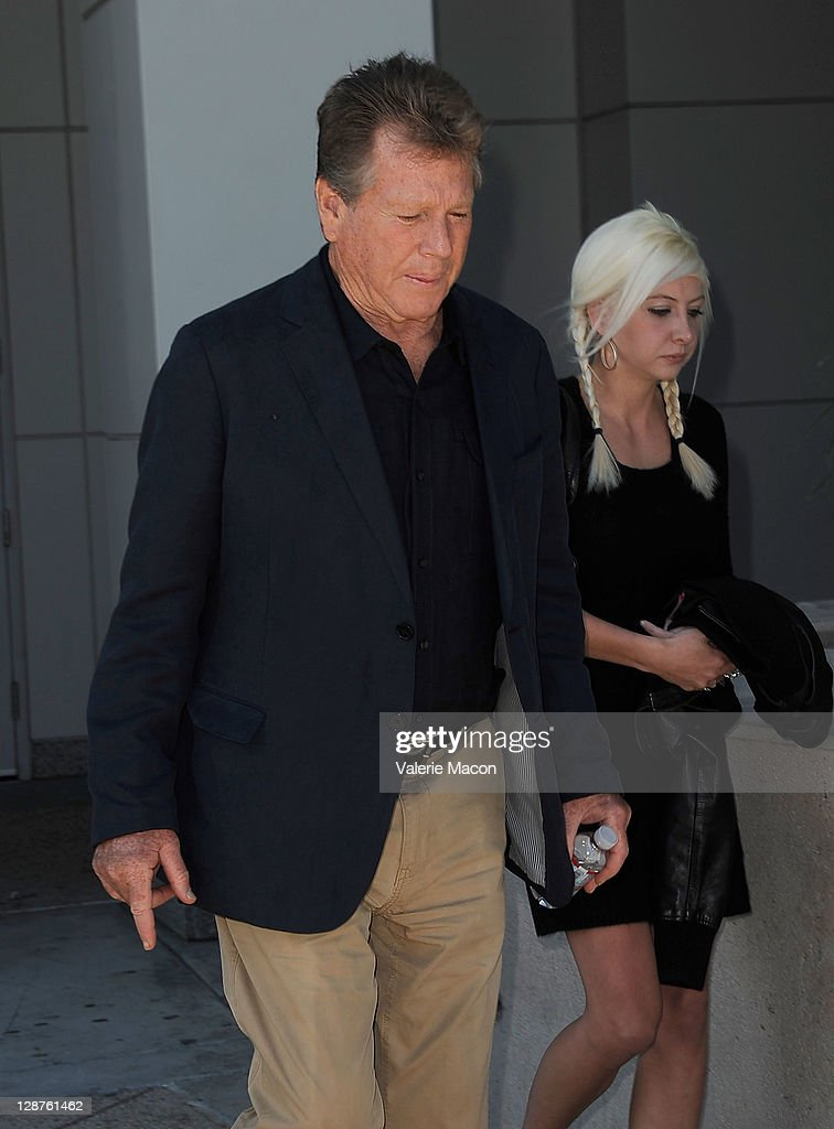 Actor <a gi-track='captionPersonalityLinkClicked' href=/galleries/search?phrase=Ryan+O%27Neal&family=editorial&specificpeople=213209 ng-click='$event.stopPropagation()'>Ryan O'Neal</a> leaves the courthouse after his son Redmon O'Neal Sentencing on October 7, 2011 in Los Angeles, California.