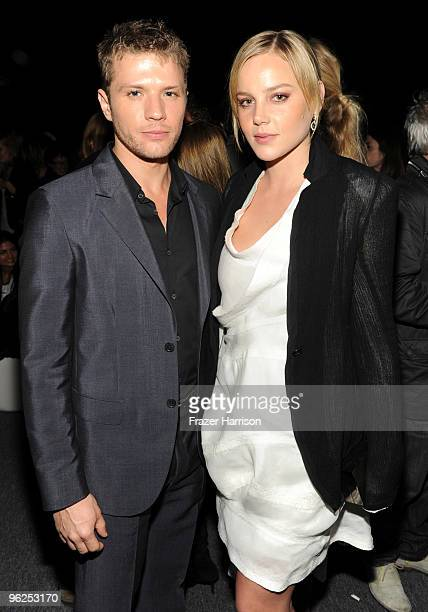 Actor Ryan Phillipe and Abbie Cornish actress pose at Calvin Klein Collection Los Angeles Nomadic Division 1st Annual Celebration For LA Arts Monthly...