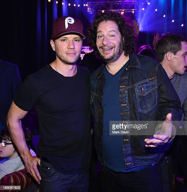 Actor Ryan Phillippe and comedian Jeffrey Ross attend 'The Big Live Comedy Show' presented by YouTube Comedy Week held at Culver Studios on May 19...
