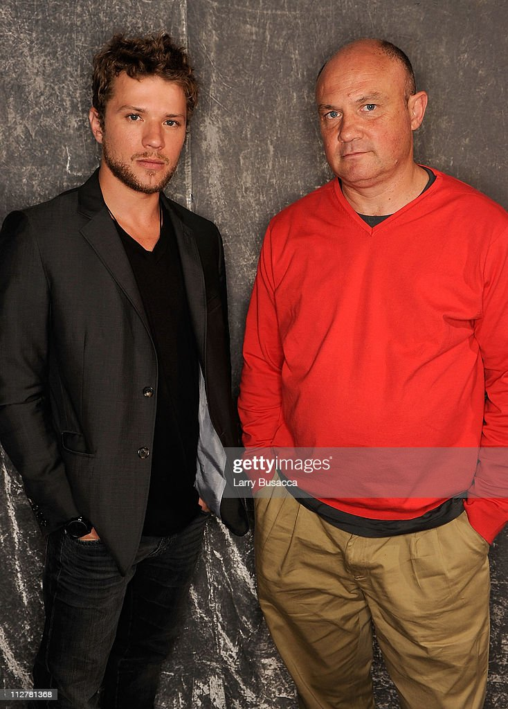 Actor <a gi-track='captionPersonalityLinkClicked' href=/galleries/search?phrase=Ryan+Phillippe&family=editorial&specificpeople=210855 ng-click='$event.stopPropagation()'>Ryan Phillippe</a> (L) and photojournalist Greg Marinovich visit the Tribeca Film Festival 2011 portrait studio on April 21, 2011 in New York City.