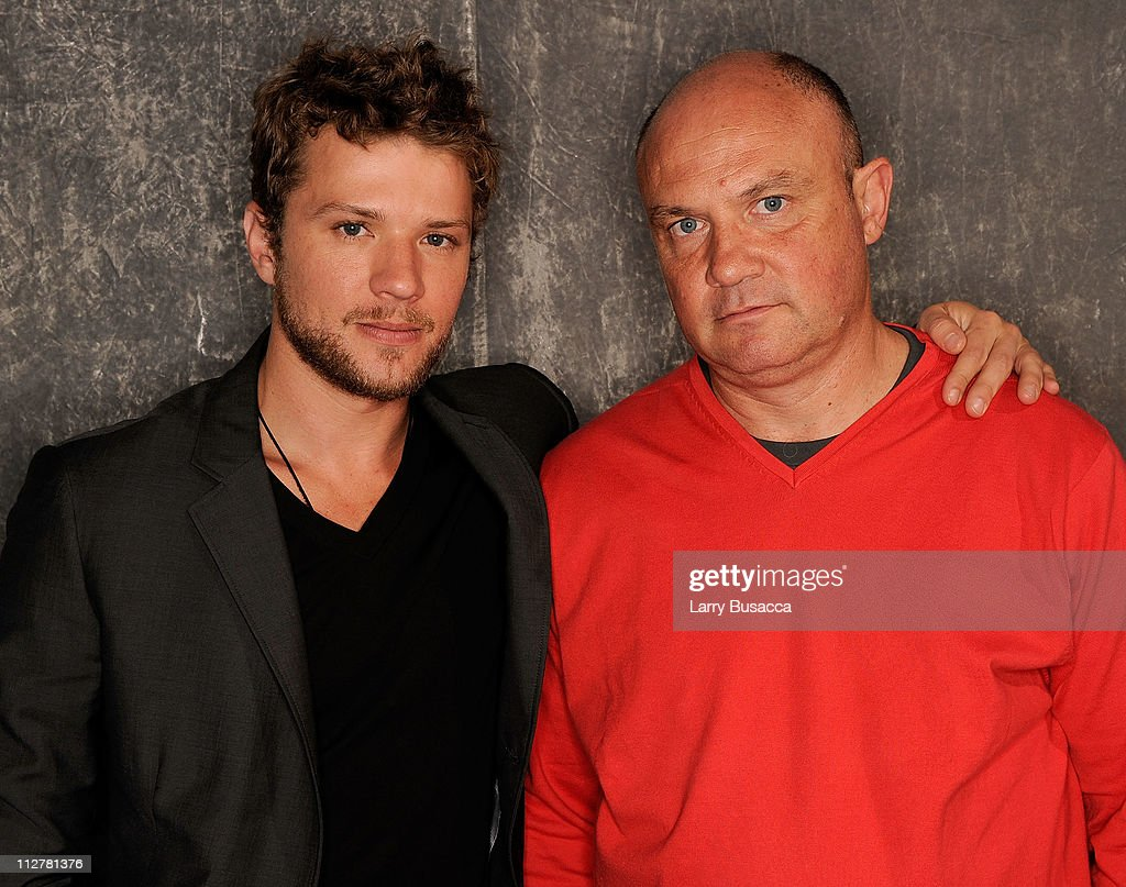 Actor <a gi-track='captionPersonalityLinkClicked' href=/galleries/search?phrase=Ryan+Phillippe&family=editorial&specificpeople=210855 ng-click='$event.stopPropagation()'>Ryan Phillippe</a> and photojournalist Greg Marinovich visit the Tribeca Film Festival 2011 portrait studio on April 21, 2011 in New York City.