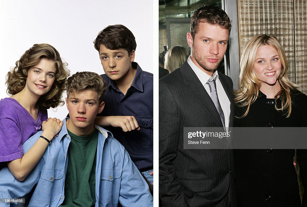 In this composite image a comparison has been made of actor <a gi-track='captionPersonalityLinkClicked' href=/galleries/search?phrase=Ryan+Phillippe&family=editorial&specificpeople=210855 ng-click='$event.stopPropagation()'>Ryan Phillippe</a>. Many of today's leading Hollywood stars began their careers in daytime serials. As the US soap opera continues to fail, one of the traditional routes for actors to transition from small screen to box office is disappearing. In the last two years the long-running series 'All My Children,' 'As The World Turns' and the 72 year old 'Guiding Light' have all been cancelled. The final air date of the 43 year old daytime drama 'One Life to Live' on January 13, 2012 will mark the end of soap production in New York City.(RIGHT IMAGE) NEW YORK - OCTOBER 16: Actor <a gi-track='captionPersonalityLinkClicked' href=/galleries/search?phrase=Ryan+Phillippe&family=editorial&specificpeople=210855 ng-click='$event.stopPropagation()'>Ryan Phillippe</a> and then wife <a gi-track='captionPersonalityLinkClicked' href=/galleries/search?phrase=Reese+Witherspoon&family=editorial&specificpeople=201577 ng-click='$event.stopPropagation()'>Reese Witherspoon</a> attend The Cinema Society & Zenith Watches screening after party for 'Flags Of Our Fathers' at the SOHO Grand October 16, 2006 in New York City.