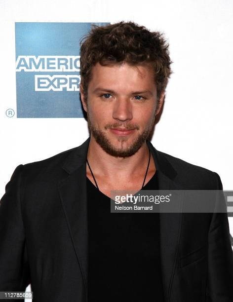 Actor Ryan Phillippe attends the Tribeca Film Festival American Express Cinema Society Premiere Of 'The Bang Bang Club' at BMCC Tribeca PAC on April...