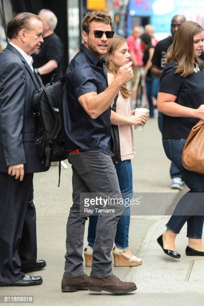 Actor Ryan Phillippe leaves the 'Good Morning America' taping at the ABC Times Square Studios on July 10 2017 in New York City