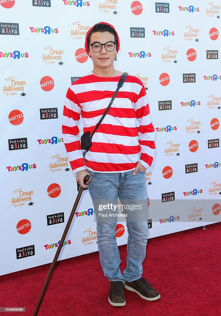 Actor Ryan Potter attends the Keep A Child Alive 2012 Dream Halloween Los Angeles charity event at Barker Hangar on October 27, 2012 in Santa Monica, California.