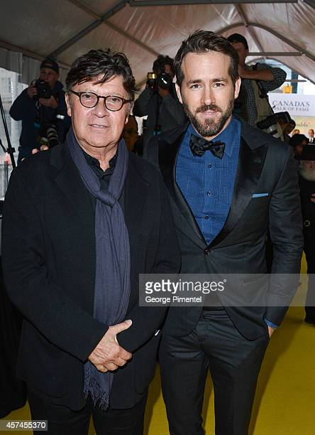 Actor Ryan Reynolds and musician Robbie Robertson attend the 2014 Canada's Walk Of Fame Awards at the Sony Centre on October 18 2014 in Toronto Canada