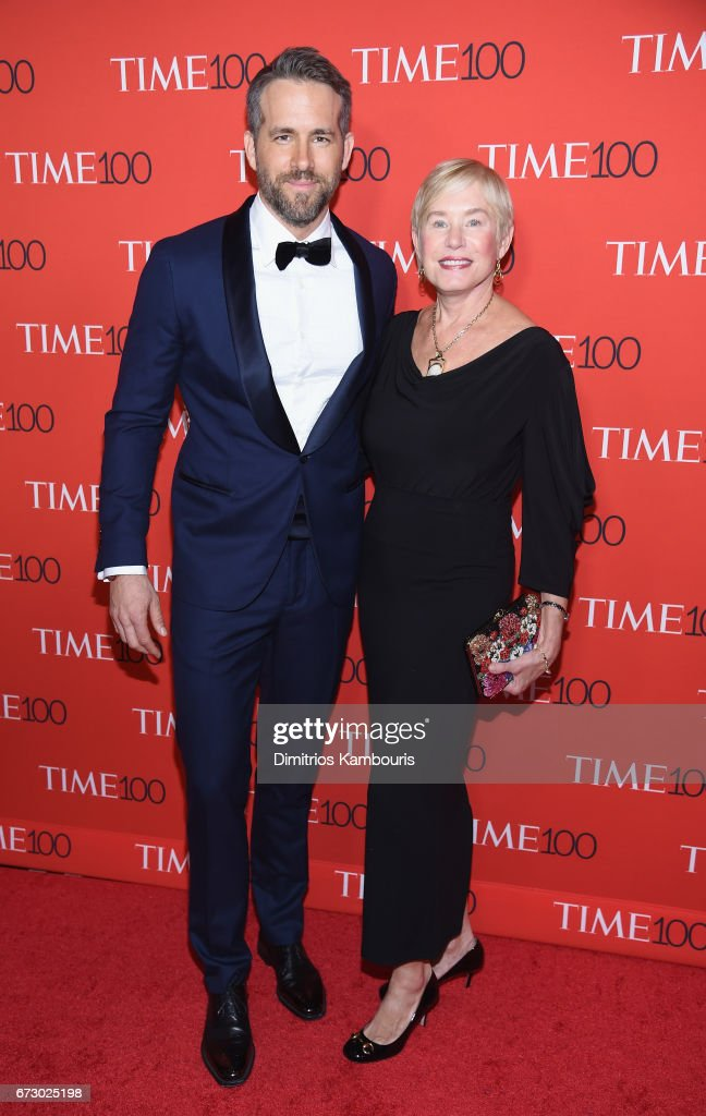 Actor Ryan Reynolds (L) and Tammy Reynolds attend the 2017 Time 100 Gala at Jazz at Lincoln Center on April 25, 2017 in New York City.