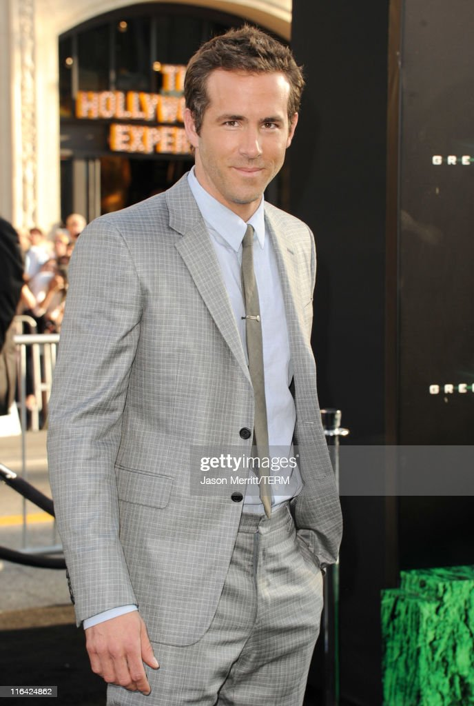 Actor Ryan Reynolds arrives at the premiere of Warner Bros. Pictures' 'Green Lantern' held at Grauman's Chinese Theatre on June 15, 2011 in Hollywood, California.