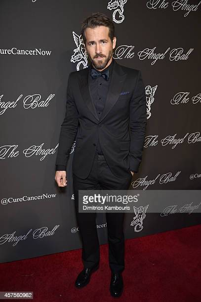 Actor Ryan Reynolds attend Angel Ball 2014 hosted by Gabrielle's Angel Foundation at Cipriani Wall Street on October 20 2014 in New York City