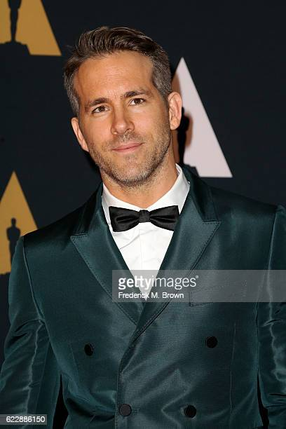 Actor Ryan Reynolds attends the Academy of Motion Picture Arts and Sciences' 8th annual Governors Awards at The Ray Dolby Ballroom at Hollywood...