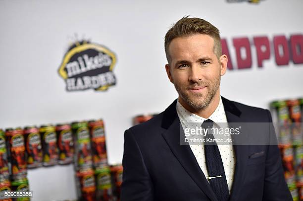 Actor Ryan Reynolds attends the 'Deadpool' fan event at AMC Empire Theatre on February 8 2016 in New York City