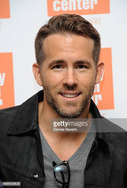 Actor Ryan Reynolds attends The Film Society of Lincoln Center sneak previews 'Mississippi Grind' at The Film Society of Lincoln Center Walter Reade...