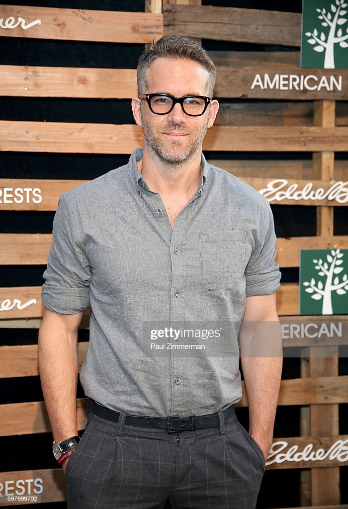 Actor Ryan Reynolds attends The One Tree Initiative Celebration at The Highline on August 30 2016 in New York City
