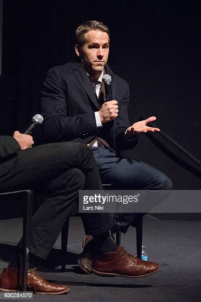 Actor Ryan Reynolds attends the Q and A during The Contenders Screening of DEADPOOL With Ryan Reynolds at MOMA on December 19 2016 in New York City