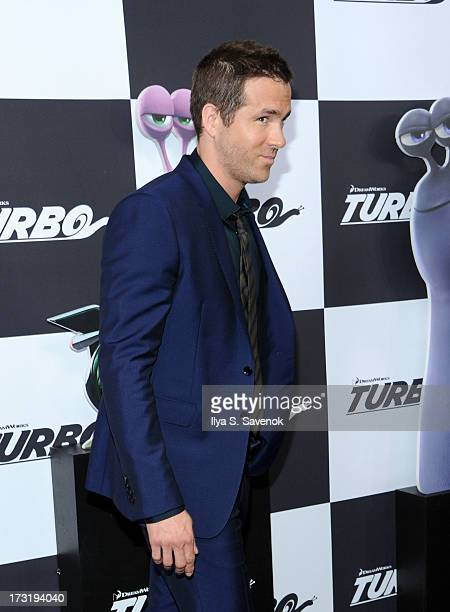 Actor Ryan Reynolds attends the 'Turbo' New York Premiere at AMC Loews Lincoln Square on July 9 2013 in New York City