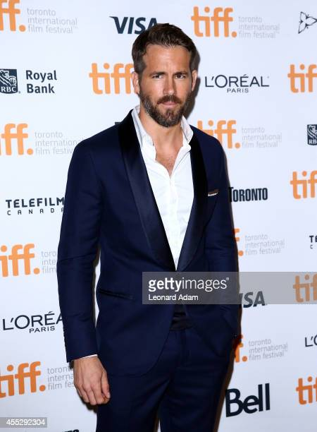 Actor Ryan Reynolds attends 'The Voices' premiere during the 2014 Toronto International Film Festival at Ryerson Theatre on September 11 2014 in...