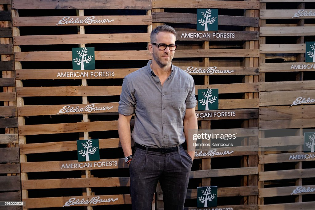 Actor Ryan Reynolds celebrates One Tree Campaign with Eddie Bauer and American Forests on August 30 2016 in New York City