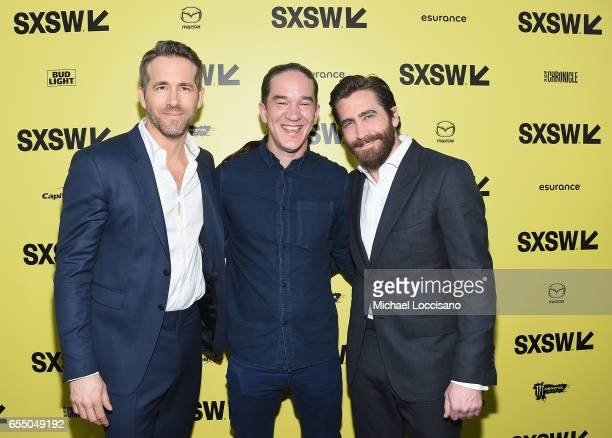 Actor Ryan Reynolds Director Daniel Espinosa and actor Jake Gyllenhaal attend the 'Life' premiere during 2017 SXSW Conference and Festivals at the...