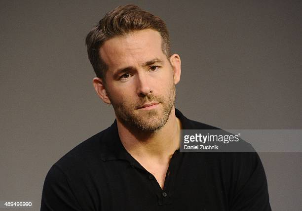 Actor Ryan Reynolds discusses his new film 'Mississippi Grind' at Apple Store Soho on September 21 2015 in New York City