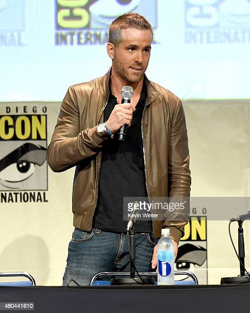 Actor Ryan Reynolds from 'Deadpool' speaks onstage at the 20th Century FOX panel during ComicCon International 2015 at the San Diego Convention...