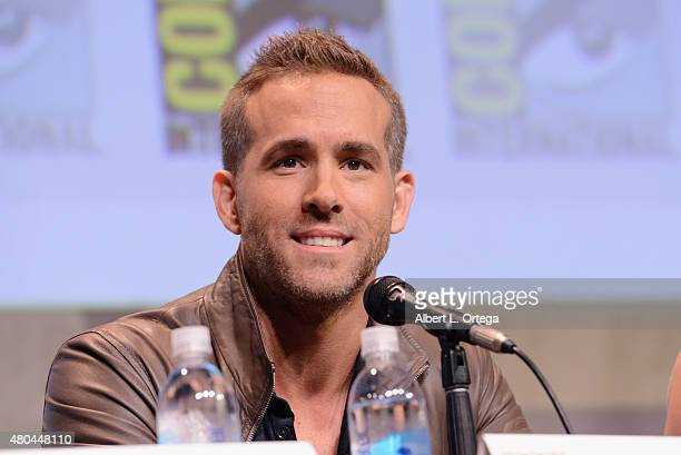 Actor Ryan Reynolds of 'Deadpool' speaks onstage at the 20th Century FOX panel during ComicCon International 2015 at the San Diego Convention Center...