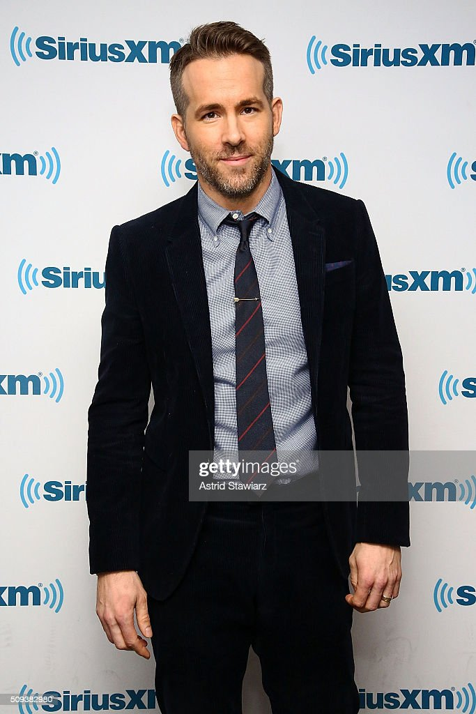 Actor <a gi-track='captionPersonalityLinkClicked' href=/galleries/search?phrase=Ryan+Reynolds&family=editorial&specificpeople=204149 ng-click='$event.stopPropagation()'>Ryan Reynolds</a> visits the SiriusXM Studios on February 10, 2016 in New York City.