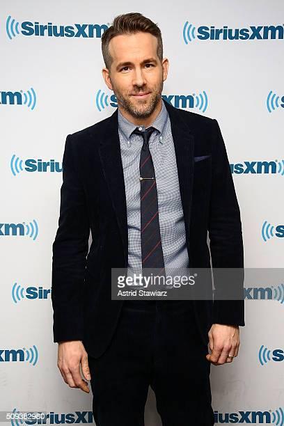 Actor Ryan Reynolds visits the SiriusXM Studios on February 10 2016 in New York City