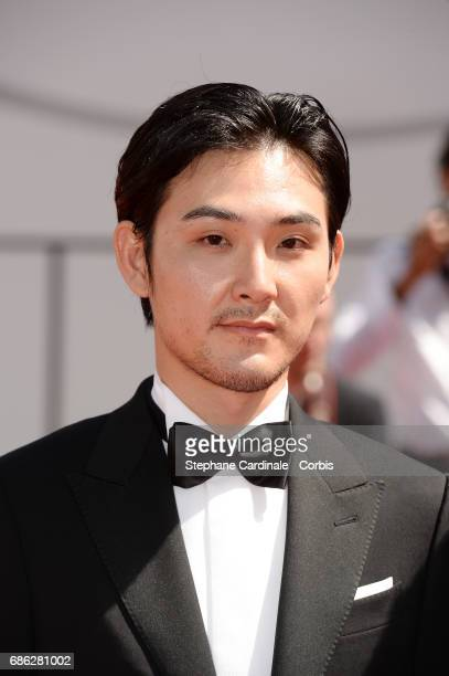 Actor Ryuhei Matsuda attends the 'Before We Vanish ' premiere during the 70th annual Cannes Film Festival at Palais des Festivals on May 21 2017 in...