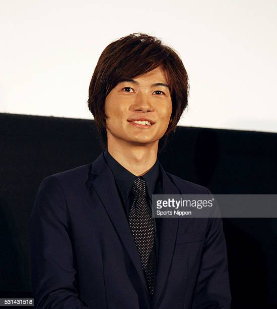 Actor Ryunosuke Kamiki attends the Opening Day Greeting of 'Rurouni Kenshin Kyoto Inferno' on August 1 2014 in Tokyo Japan