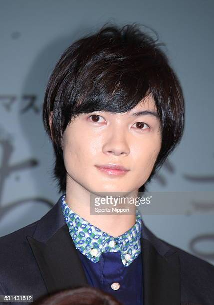 Actor Ryunosuke Kamiki attends the TV Asahi press conference on February 12 2014 in Tokyo Japan