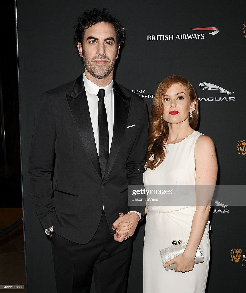 Actor <a gi-track='captionPersonalityLinkClicked' href=/galleries/search?phrase=Sacha+Baron+Cohen&family=editorial&specificpeople=216389 ng-click='$event.stopPropagation()'>Sacha Baron Cohen</a> and actress <a gi-track='captionPersonalityLinkClicked' href=/galleries/search?phrase=Isla+Fisher&family=editorial&specificpeople=220257 ng-click='$event.stopPropagation()'>Isla Fisher</a> attend the BAFTA Los Angeles Britannia Awards at The Beverly Hilton Hotel on November 9, 2013 in Beverly Hills, California.