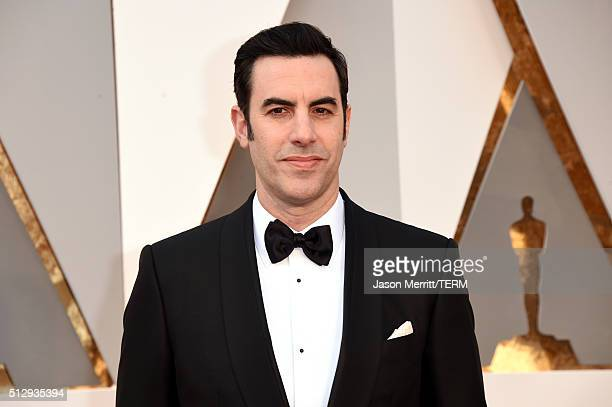 Actor Sacha Baron Cohen attends the 88th Annual Academy Awards at Hollywood Highland Center on February 28 2016 in Hollywood California