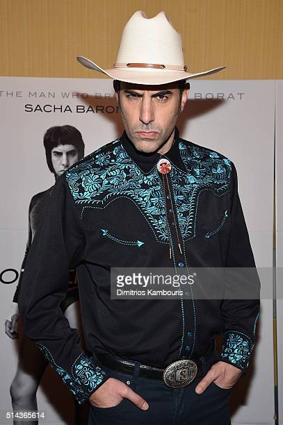Actor Sacha Baron Cohen attends the 'The Brothers Grimsby' fan screening at Regal Union Square on March 8 2016 in New York City