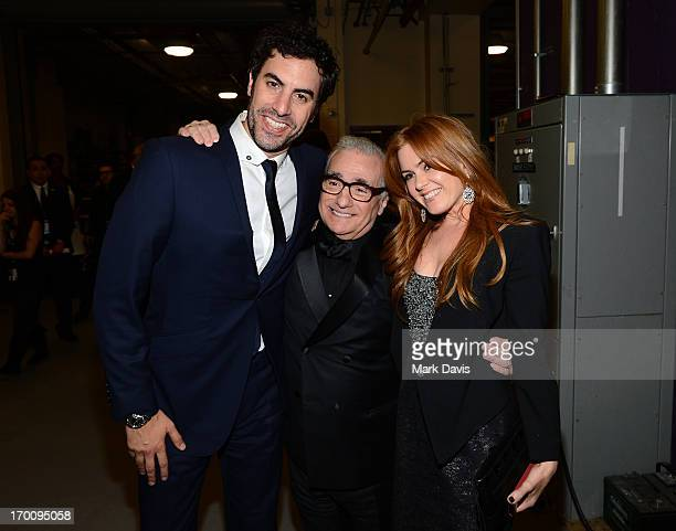 Actor Sacha Baron Cohen Director Martin Scorsese and Actress Isla Fisher attend AFI's 41st Life Achievement Award Tribute to Mel Brooks at Dolby...