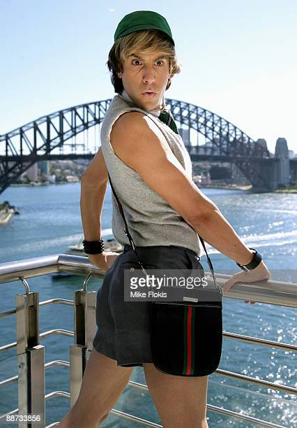 Actor Sacha Baron Cohen poses during a press conference ahead of the Australian premiere of 'Bruno The Movie' on Macquarie Street on June 29 2009 in...