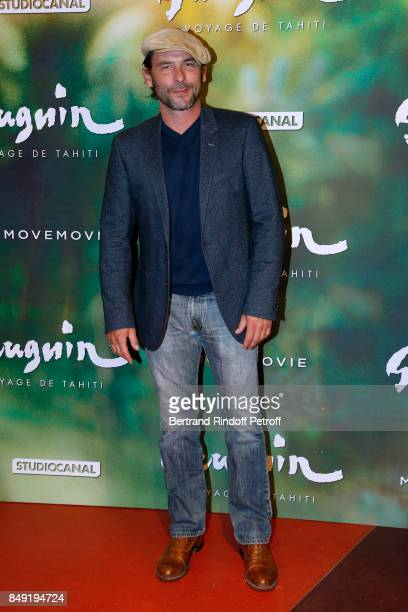 Actor Sagamore Stevenin attends the 'Gauguin Voyage de Tahiti' Paris Premiere at Cinema Gaumont Capucine on September 18 2017 in Paris France