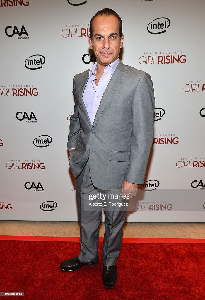 Actor Said Faraj attends a special screening of 10x10's 'Girl Rising' hosted by Intel on March 7, 2013 in Los Angeles, California.