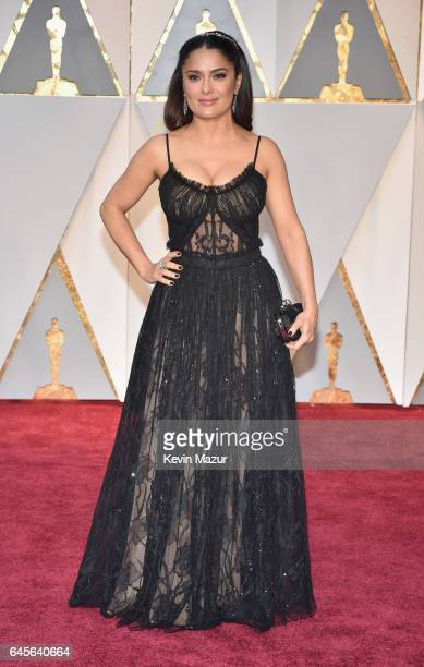 Actor Salma Hayek attends the 89th Annual Academy Awards at Hollywood Highland Center on February 26 2017 in Hollywood California
