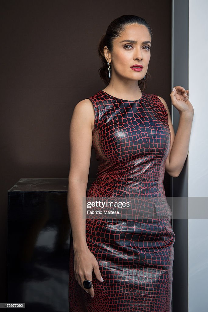 Actor <a gi-track='captionPersonalityLinkClicked' href=/galleries/search?phrase=Salma+Hayek&family=editorial&specificpeople=201844 ng-click='$event.stopPropagation()'>Salma Hayek</a> is photographed on May 15, 2015 in Cannes, France.