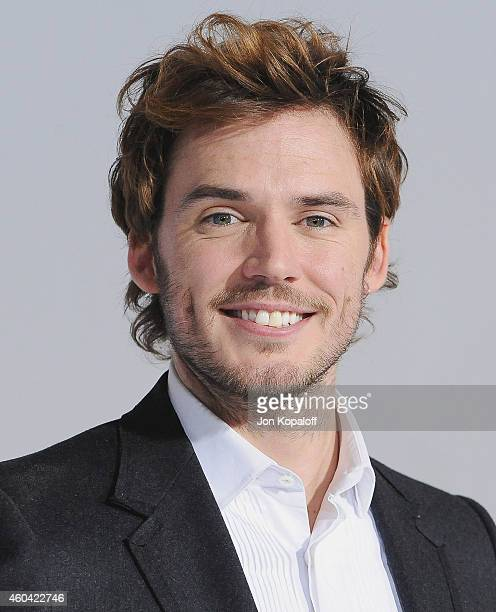 Actor Sam Claflin arrives at the Los Angele Premiere 'The Hunger Games Mockingjay Part 1' at Nokia Theatre LA Live on November 17 2014 in Los Angeles...