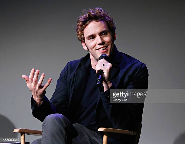 Actor Sam Claflin attends Meet the Actor Sam Claflin 'The Quiet Ones' at Apple Store Soho on April 15 2014 in New York City