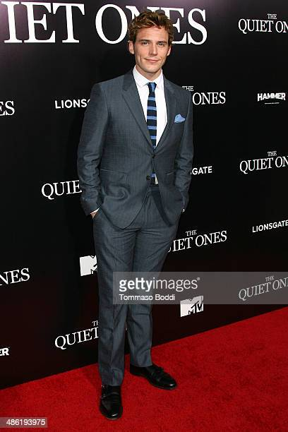 Actor Sam Claflin attends the 'The Quiet Ones' Los Angeles premiere held at The Theatre At Ace Hotel on April 22 2014 in Los Angeles California