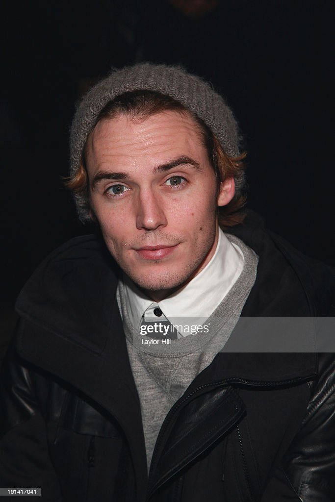 Actor Sam Claflin attends the Y-3 Fall 2013 Mercedes-Benz Fashion Show at 80 Essex Street on February 10, 2013 in New York City.