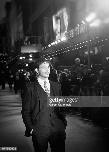 Actor Sam Claflin attends 'Their Finest' Mayor's Centrepiece Gala screening during the 60th BFI London Film Festival at Odeon Leicester Square on...