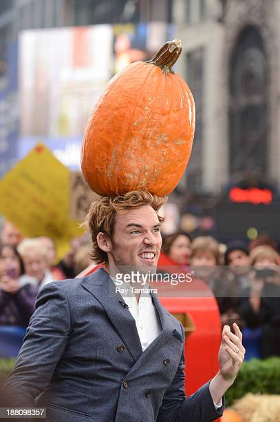 Actor Sam Claflin tapes an interview at 'Good Morning America' at the ABC Times Square Studios on November 15 2013 in New York City