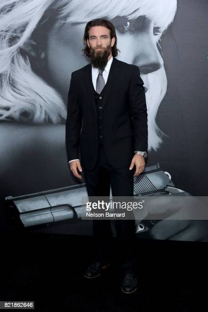 Actor Sam Hargrave attends Focus Features' 'Atomic Blonde' premiere at The Theatre at Ace Hotel on July 24 2017 in Los Angeles California
