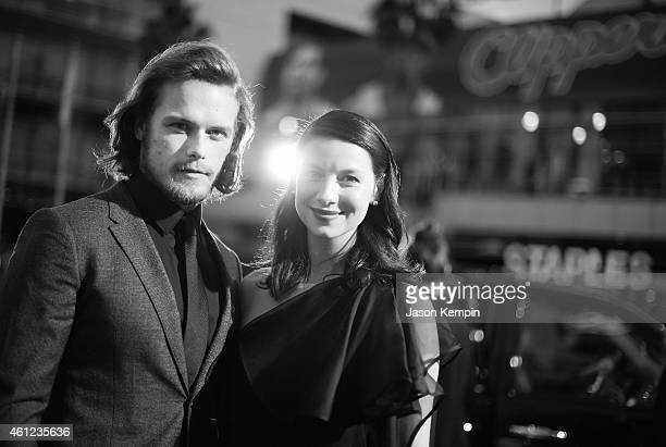 Actor Sam Heughan and actress Caitriona Balfe attend The 41st Annual People's Choice Awards at Nokia Theatre LA Live on January 7 2015 in Los Angeles...
