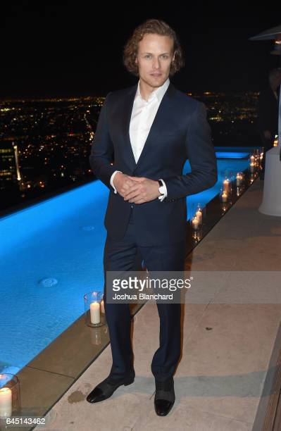 Actor Sam Heughan attends a cocktail party to kickoff Independent Spirit Awards and Oscar weekend hosted by Piaget and The Weinstein Company on...