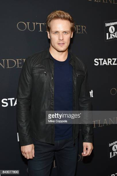 Actor Sam Heughan attends the New York Red Carpet Premiere of Outlander Season Three Hosted by Starz and Entertainment Weekly in New York on...