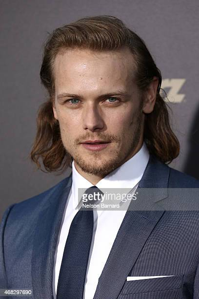 Actor Sam Heughan attends the 'Outlander' midseason New York premiere at Ziegfeld Theater on April 1 2015 in New York City